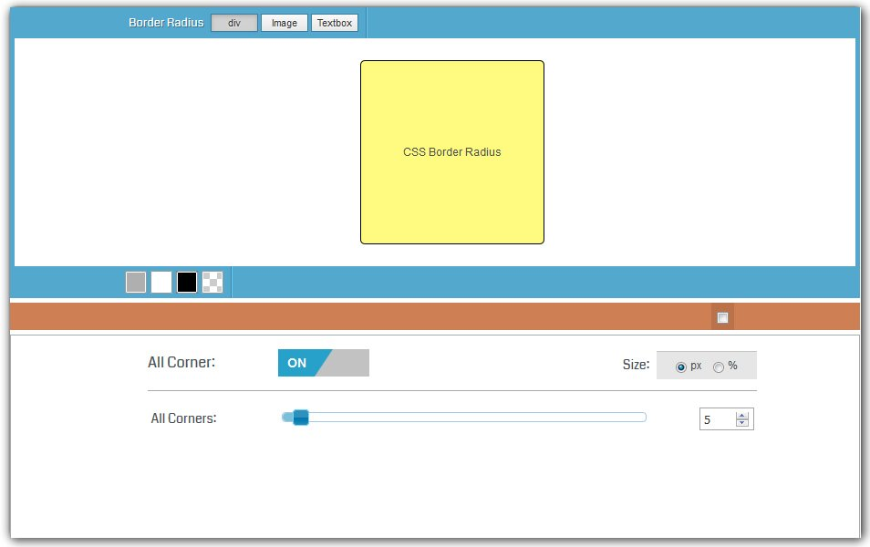 CSS Border Radius Generator | HTML Code Generator