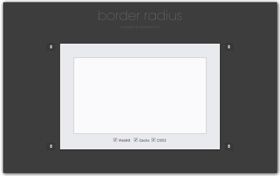 CSS Border Radius Generator | Quocbb