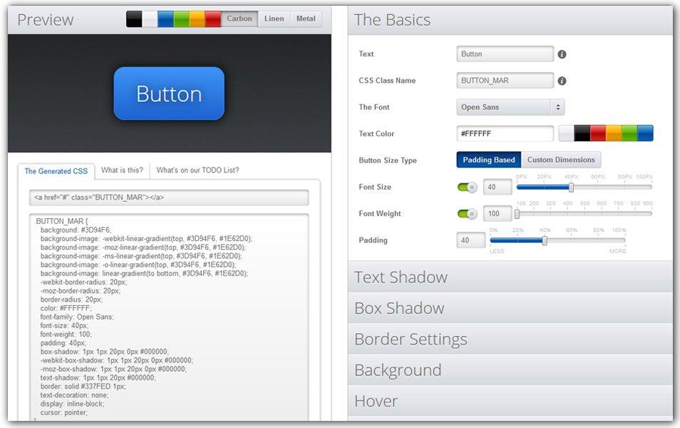 CSS Button Creator