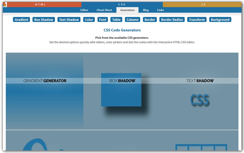 CSS Code Generators