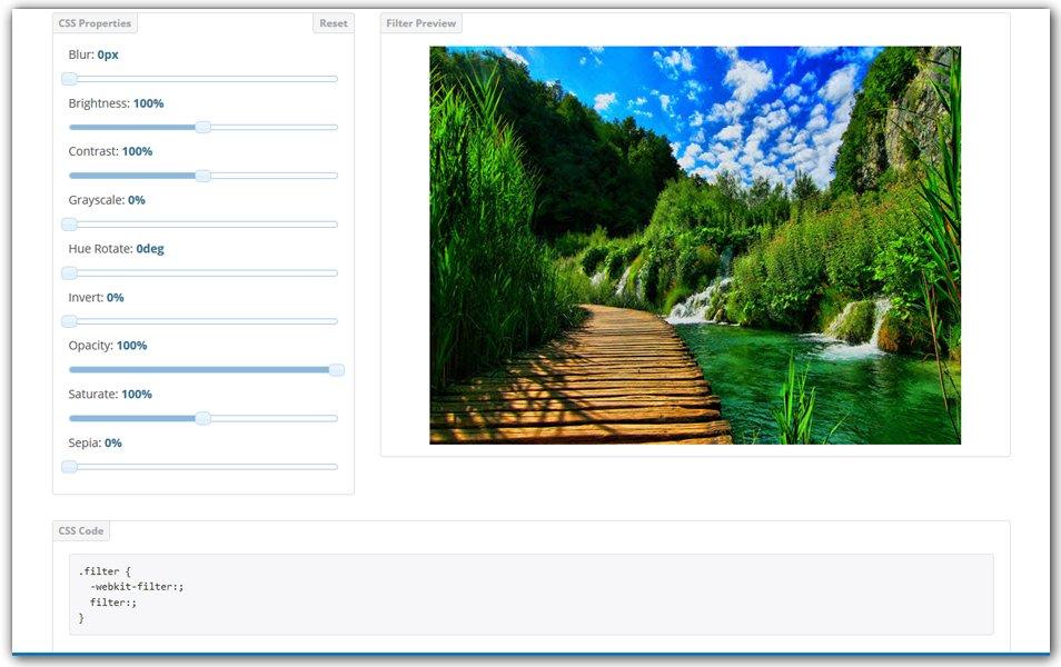 CSS Filter Generator | CSS Portal