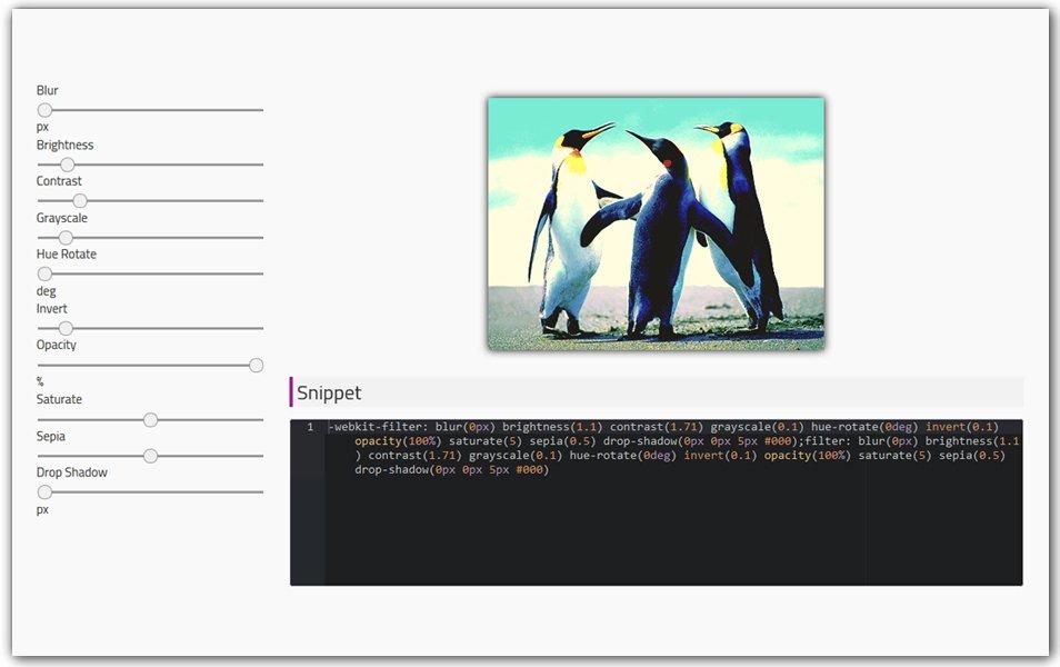 CSS Filter Generator | Doodle Nerd