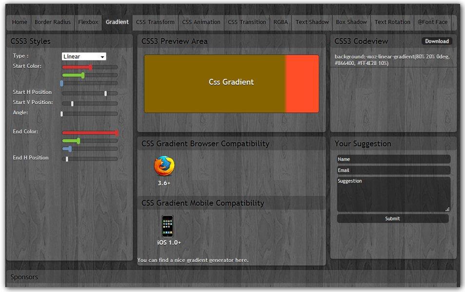 CSS Gradient | CSS3 Maker