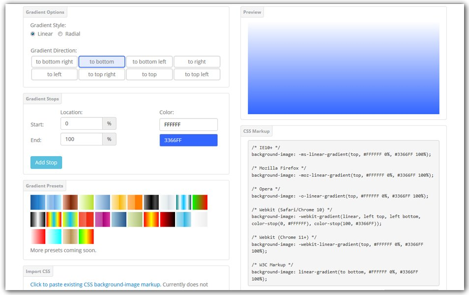 CSS Gradient Generator | GenerateIt