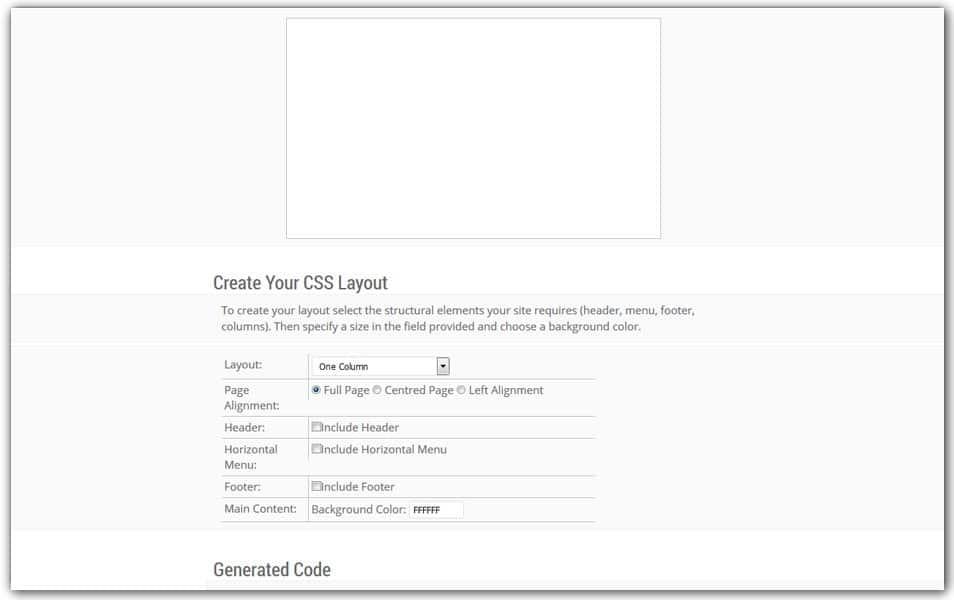 CSS Layout Generator | Codefuture