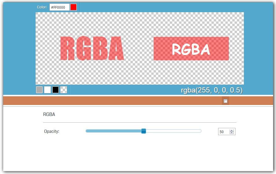CSS RGBA Color Generator | HTML Code Generator