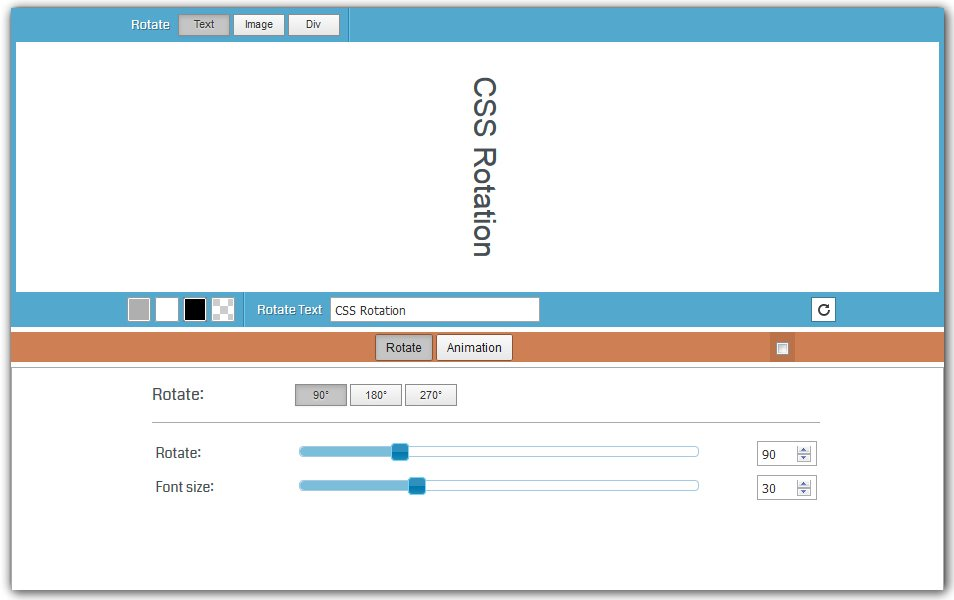CSS Rotate Generator | HTML Codes Generator