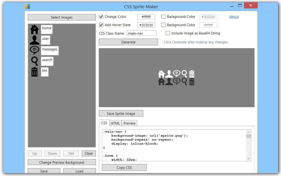 CSS Sprite Maker