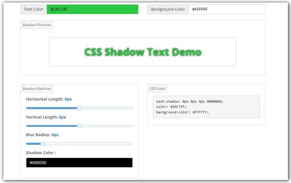 CSS Text Shadow Generator | GenerateIt