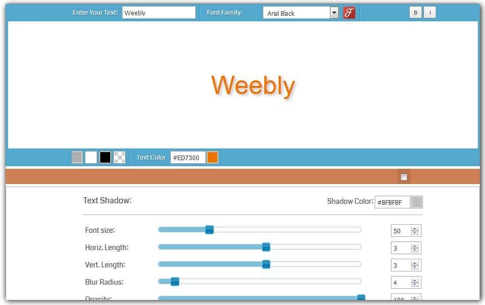 CSS Text Shadow Generator | HTML Code Generator