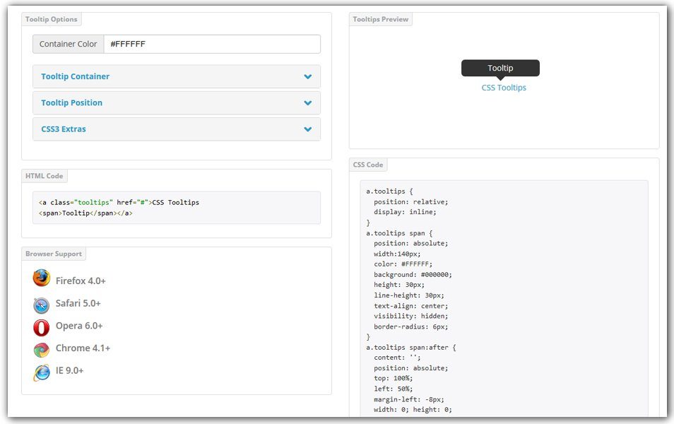 CSS Tooltip Generator | CSS Portal