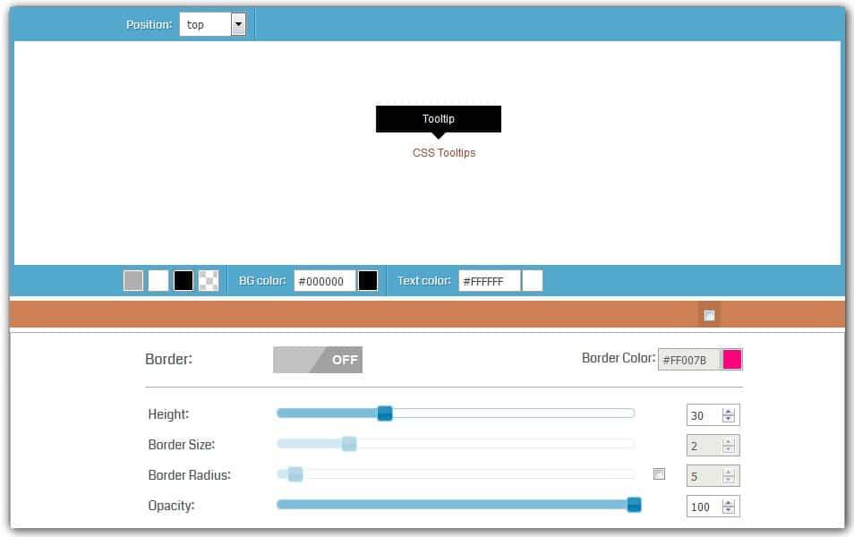 CSS Tooltip Generator | HTML Codes Generator