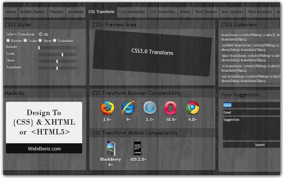 CSS Transform Generator | CSS3 Maker