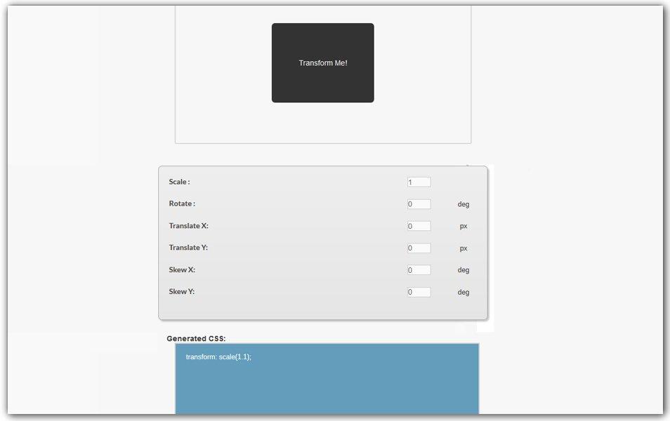 CSS Transform Generator | CSS3Gen