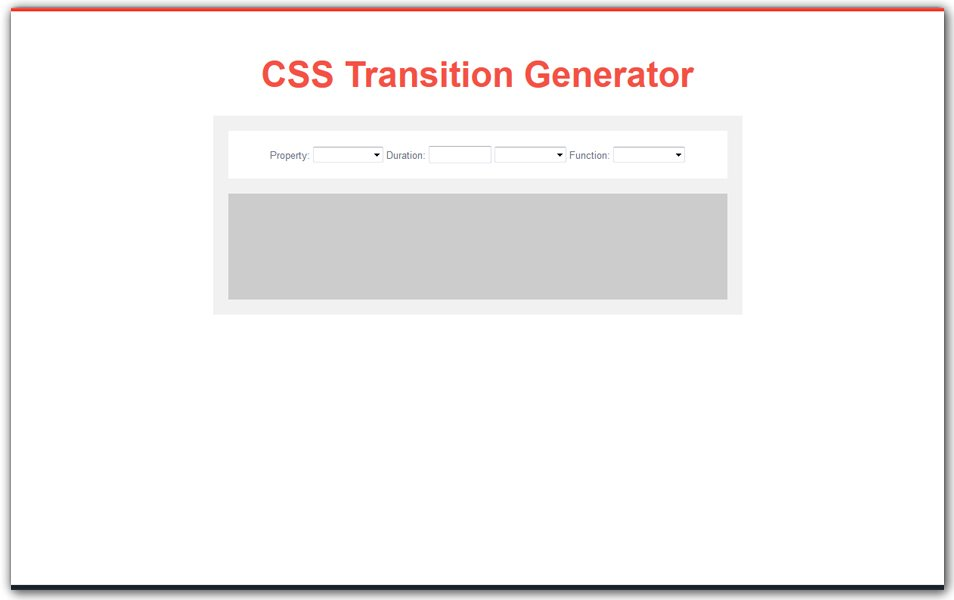 CSS Transition Generator | CSS3 Developers