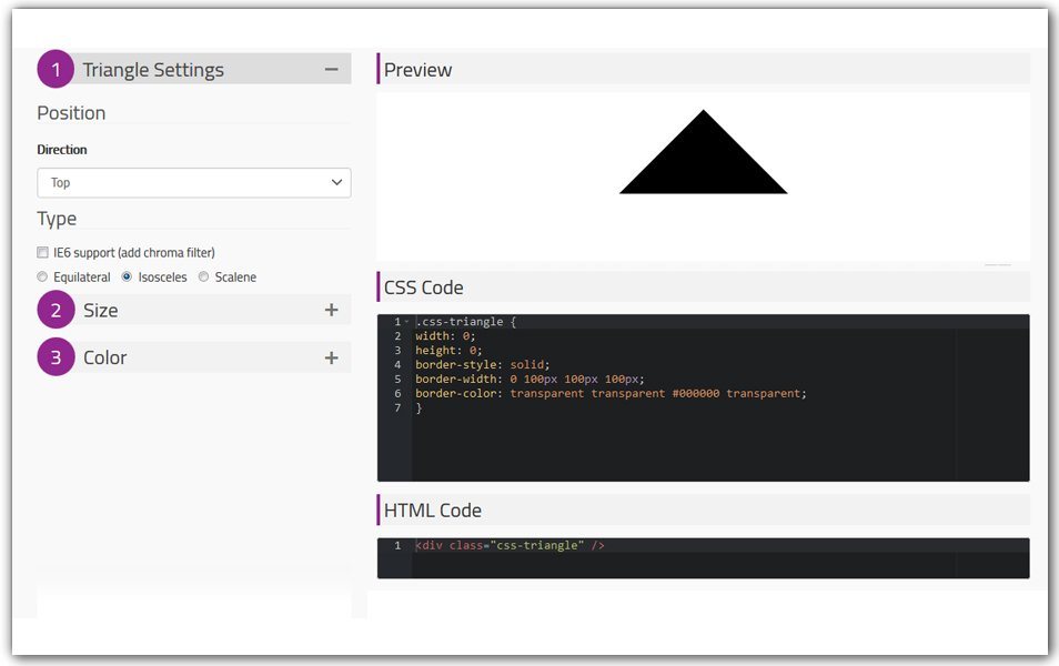 CSS Triangle Generator | Doodle Nerd