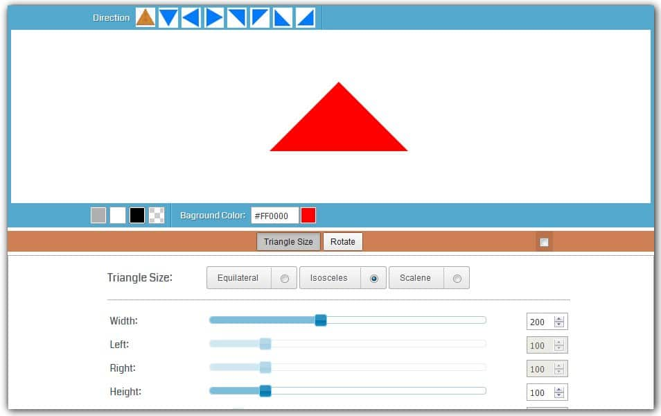 CSS Triangle Generator | HTML Codes Generator