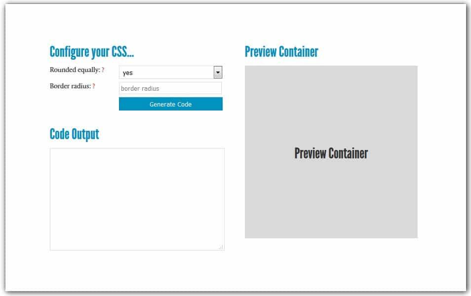 CSS3 Border Radius Generator | HTML5/CSS3 Box