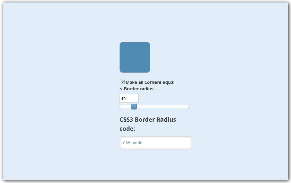 CSS3 Border Radius Generator | Manytools