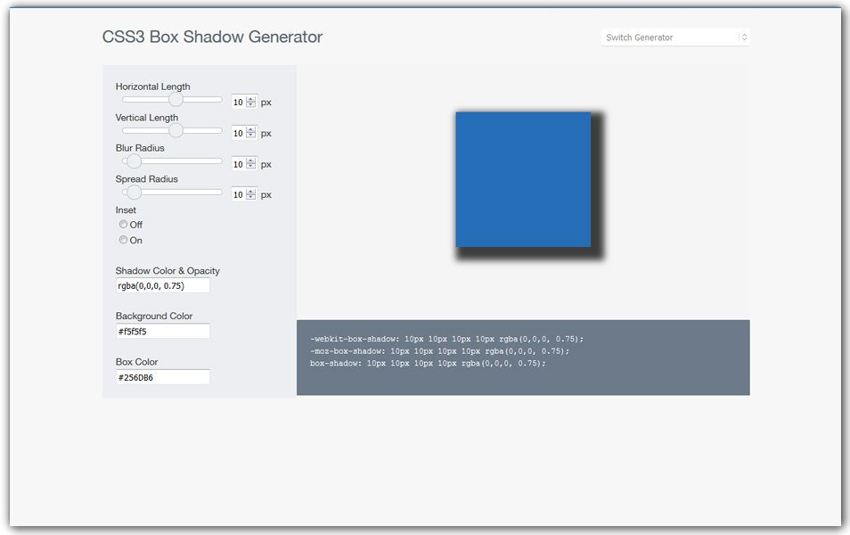 CSS3 Box Shadow Generator | CSSReflex