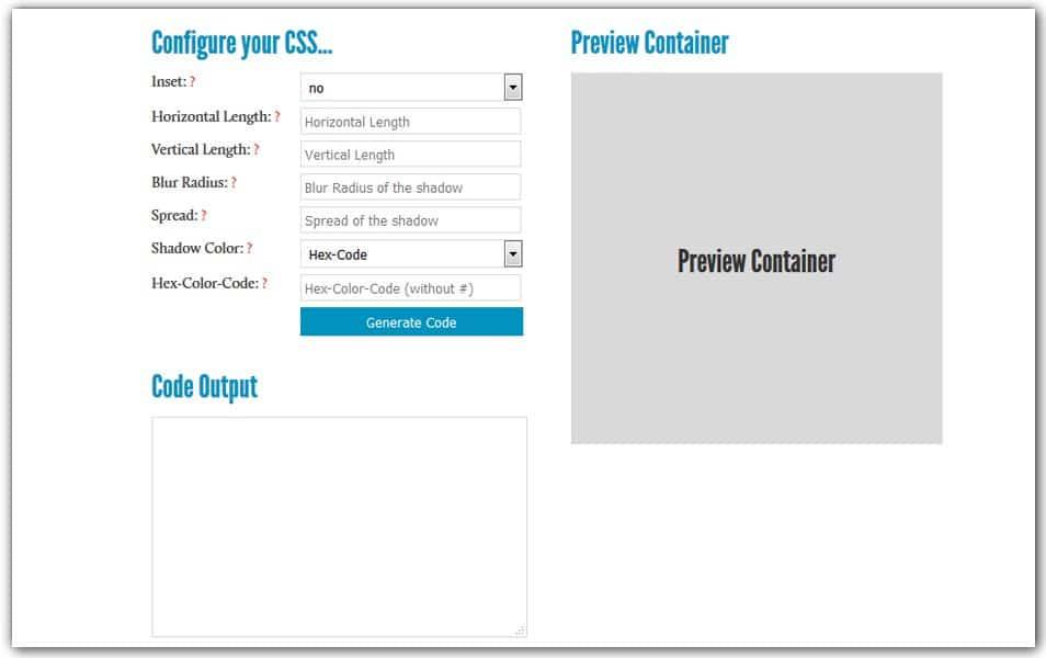 CSS3 Box Shadow Generator | HTML5/CSS3 Box