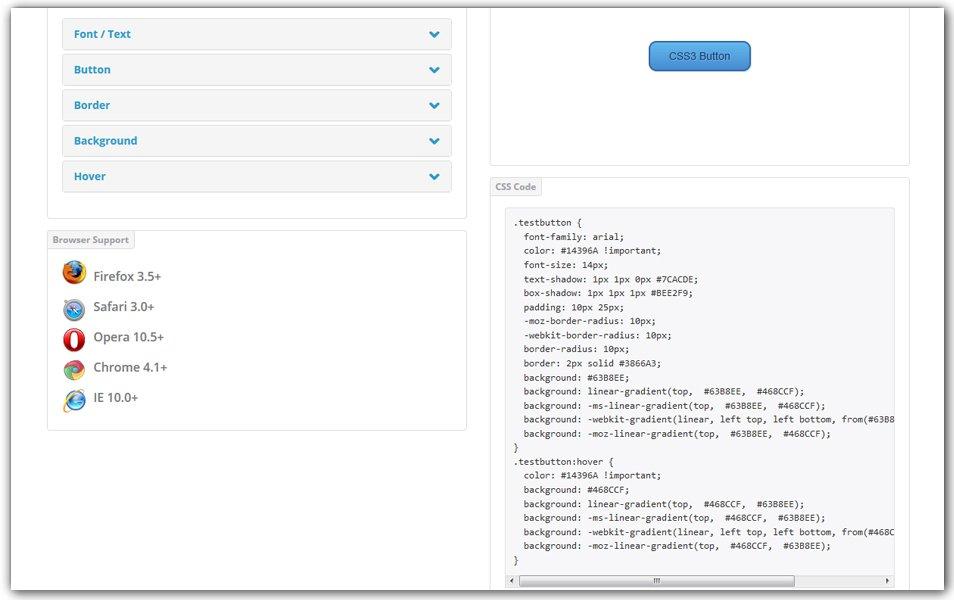CSS3 Button Generator | CSS Portal