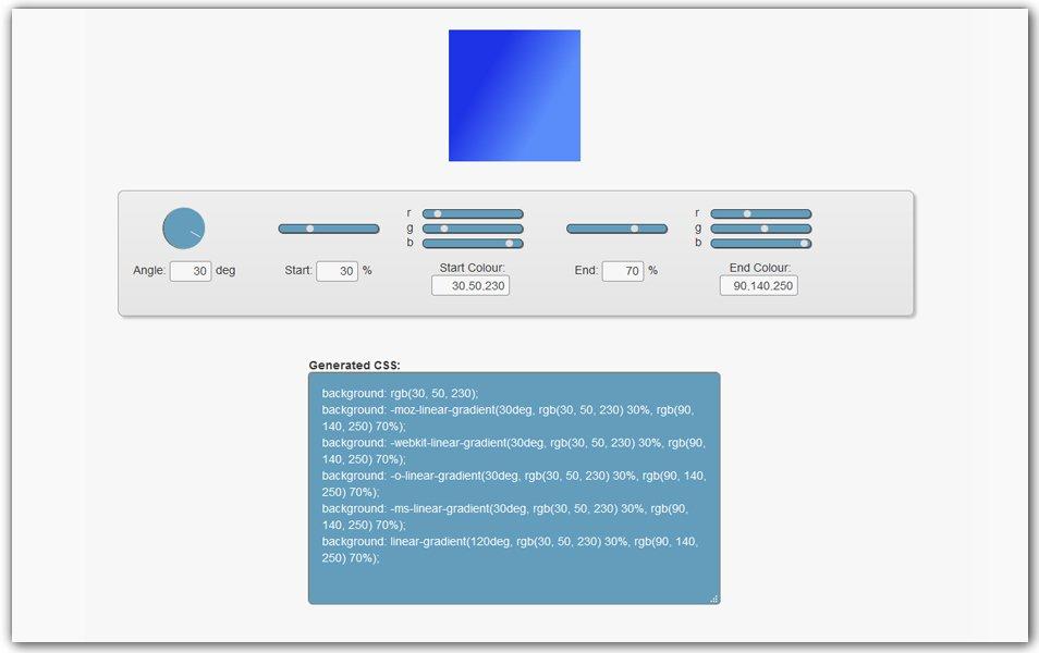 CSS3 Gradient Generator | CSS3gen