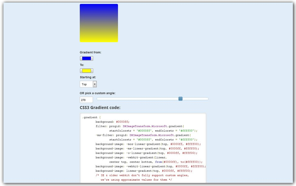 CSS3 Gradient Generator | Many Tools