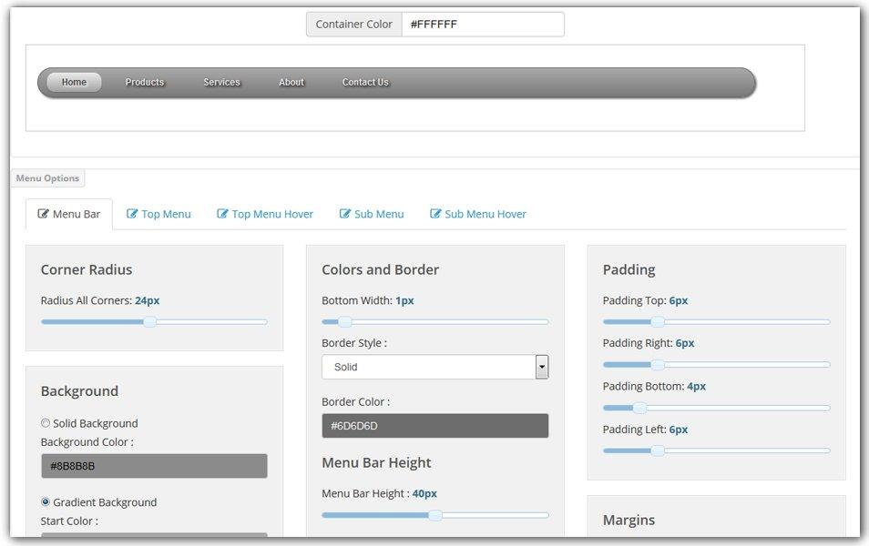 CSS3 Menu Generator | CSS Portal