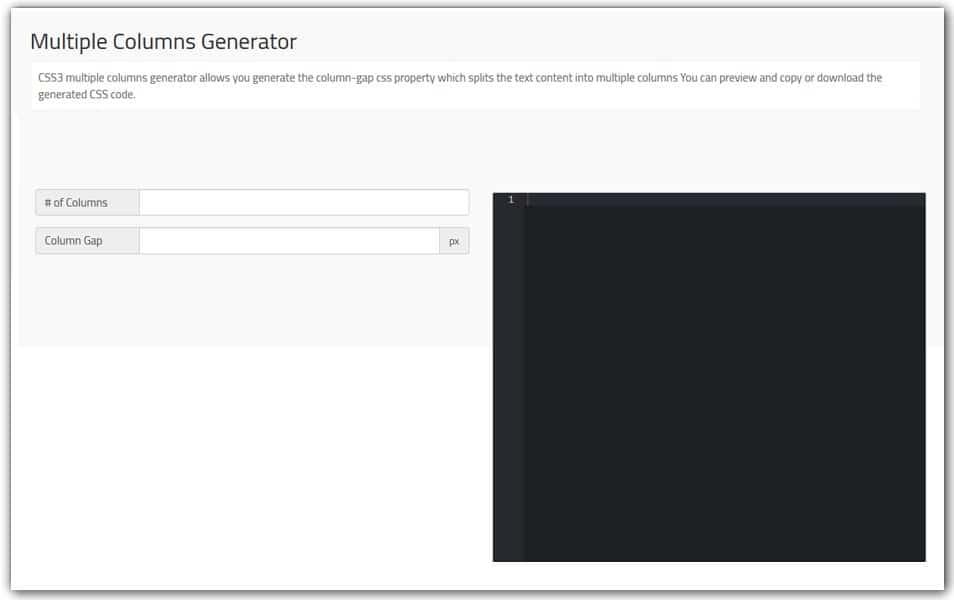 CSS3 Multiple Columns Generator | Doodle Nerd