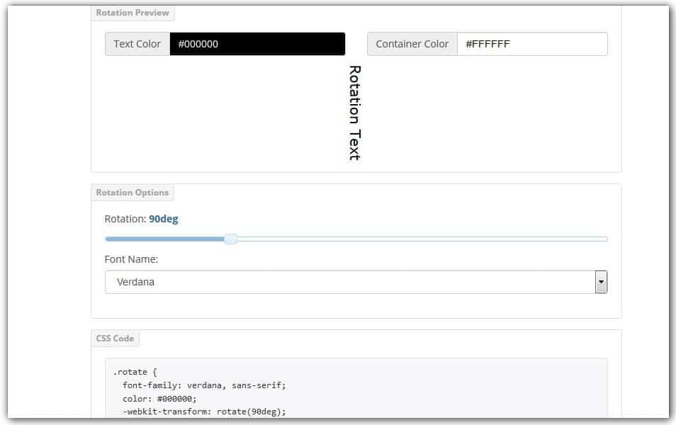CSS3 Text Rotate Generator | CSS Portal