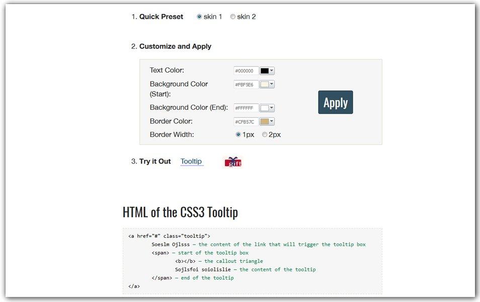 CSS3 Tooltip Maker