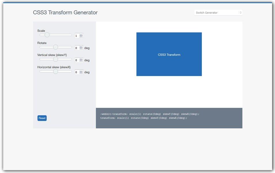 CSS3 Transform Generator | CSSReflex