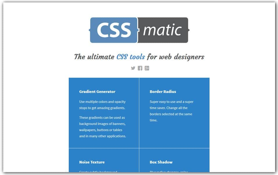 The Ultimate Collection Of Css Generators Css Author