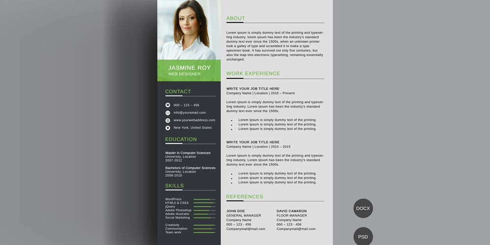 Clean CV/Resume Template