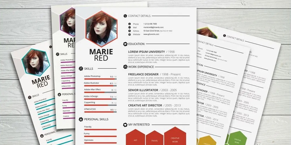 Clean professional resume template psd