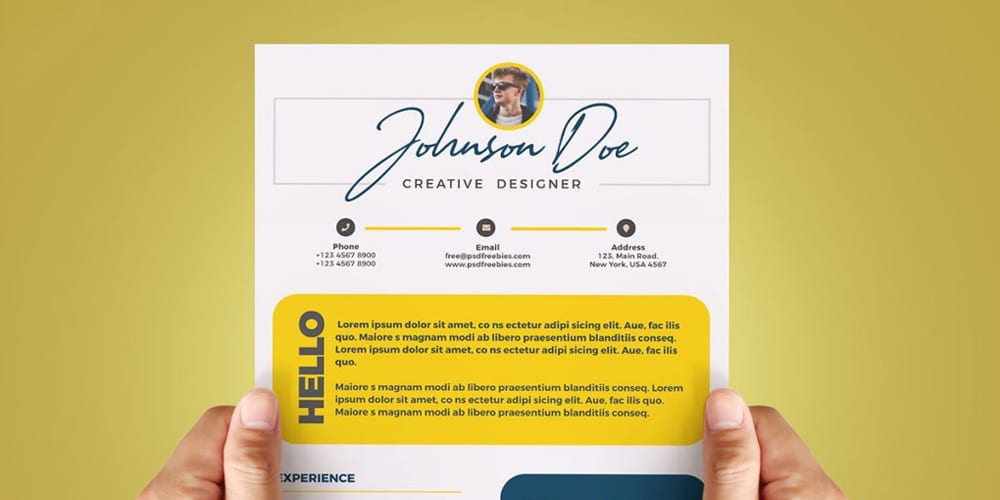 Cool and Colorful Resume CV Template PSD