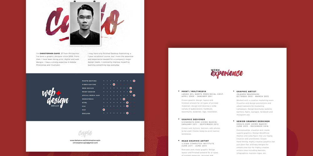 Ultimate Collection Of Free Resume Templates  Css Author