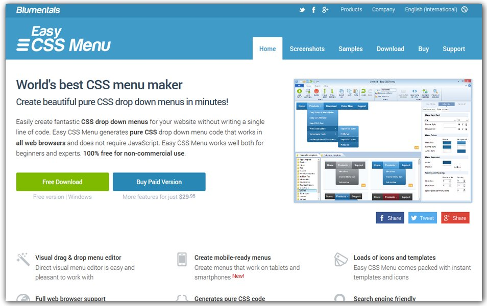 Easy CSS Menu Maker