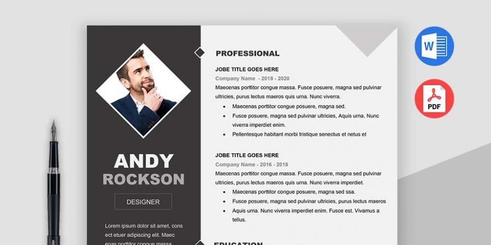 Fashion Resume Template  Fashion Resume Templates