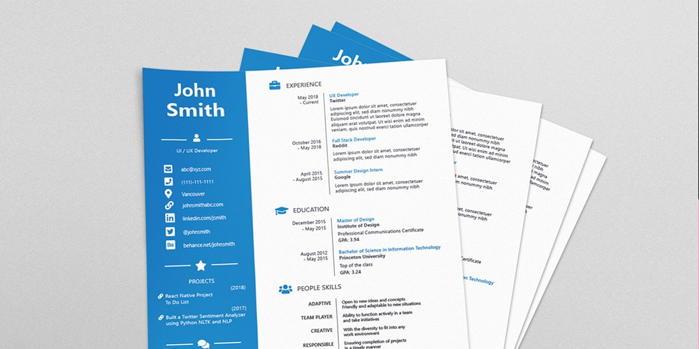 Four Version Resume Template