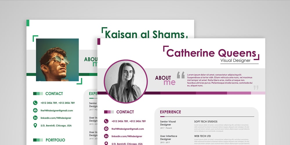 Free Beautiful Resume CV Template