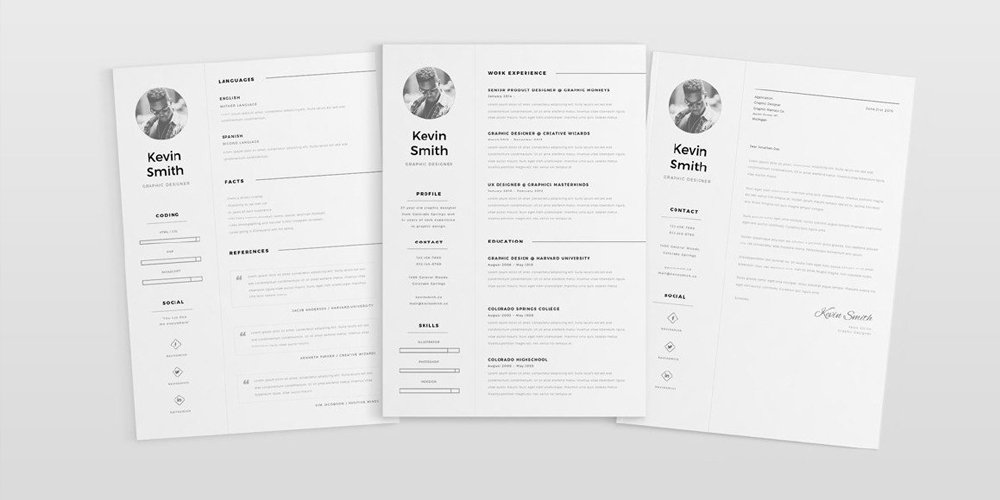 Free Clean And Minimal Resume Template