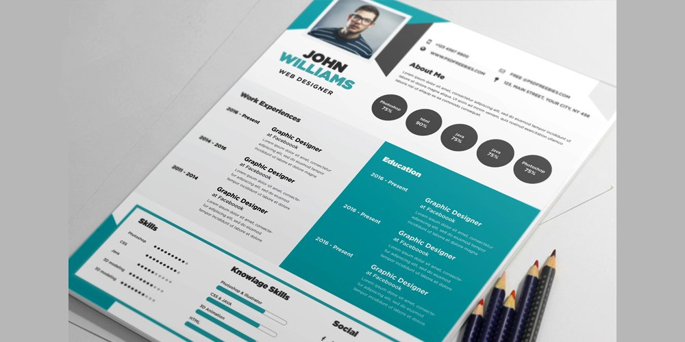 free creative resume template psd - Creative Resumes