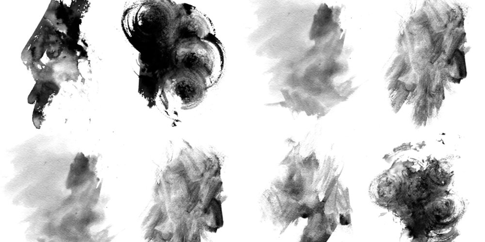 Free High-Res Grungy Watercolor Photoshop Brushes