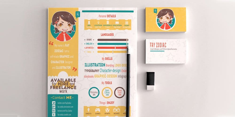 Free Infographic Resume Template For Graphic Designers Illustrators