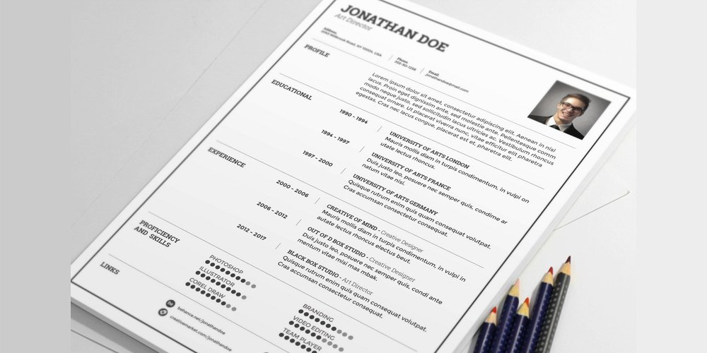 Free Light Resume Template