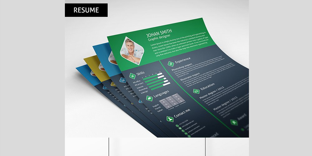 Ultimate collection of free resume templates css author free psd resume template pronofoot35fo Images