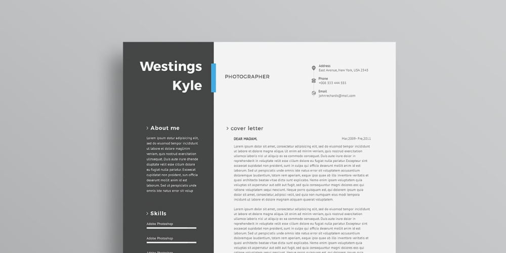 Ultimate collection of free resume templates css author free professional resume template psd yelopaper