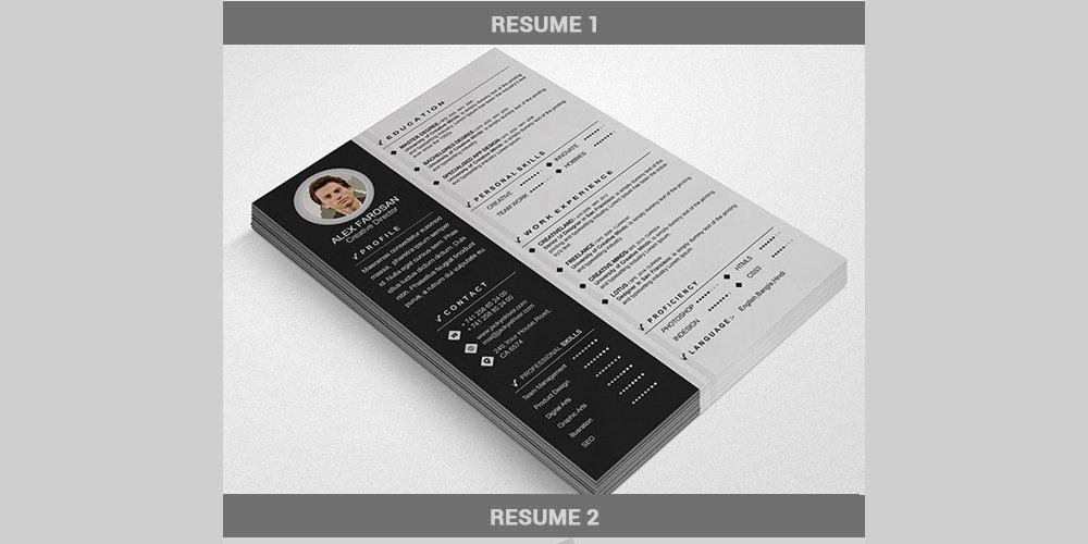 Free Resume/CV Template PSD